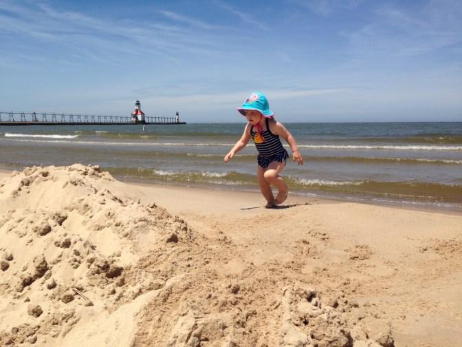 Frolicking in Tiscornia Beach