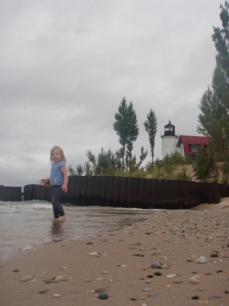 Claire Visits Point Betsie