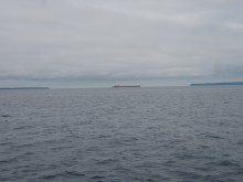 A Freighter Splits the Manitous
