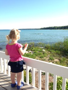 Gazing Out on Grand Traverse Bay