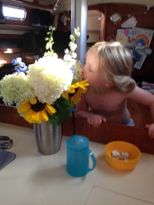 Sometimes, you have to stop and smell the farmers market flowers.