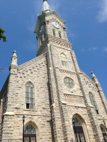 St. Mary's Catholic Church is the cornerstone of the town, standing proudly over Main Street and leading out to the bluffs along the lake.