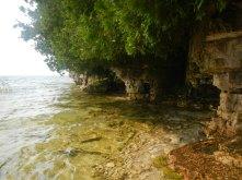 Exploring the rock cliffs