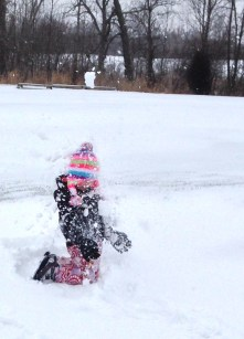 This kid loves the snow! Lucky for us, she loves the beaches more :).