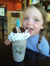 A celebratory shake for our new little swimmer!