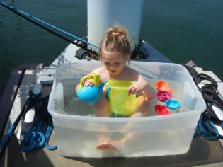 Unending fun in tub of water