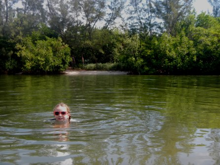 Swimming at the Spoil Islands