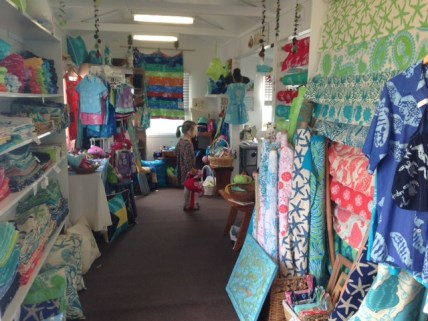 Sally's Seaside Boutique specializes in authentic Bahamian fabrics and prints. You can buy gifts, or fabric by the yard to create your own.