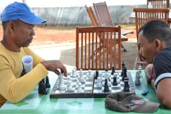 Überall wird Schach gespielt