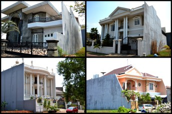 Verrückte Villen im Stadtteil Pluit von Jakarta