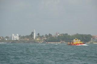 Der Hafen von Galle bei der Einfahrt