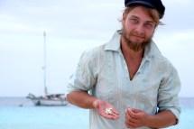 Wir sammeln ein paar Muscheln für eine kleine Überraschung