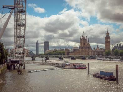 Typisch London, immerhin haben wir halbwegs Glück mit dem Wetter
