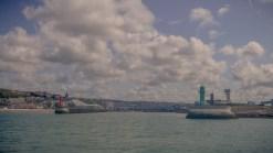 Die Hafeneinfahrt von Boulogne sur Mer