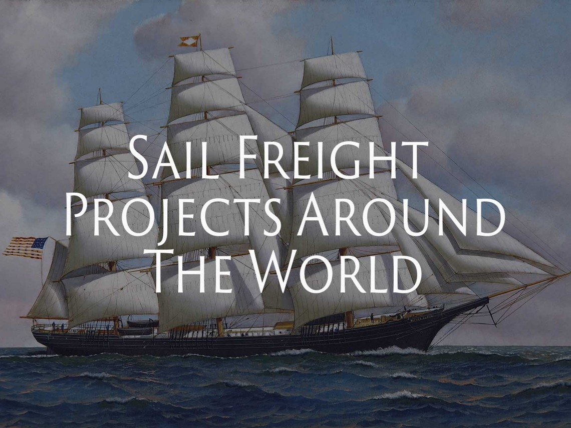 Sail Freight Projects Around The World Sailing Dog Dry Goods