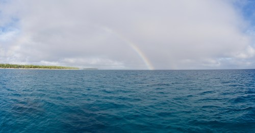 Rainbow over Uonokuhahaki Island