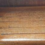 crushed walnut shells embedded in varnish