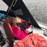 verrekijker zeilen Isis, kinderen sailing isis