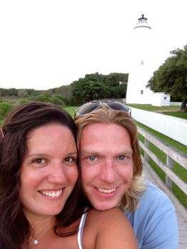 selfie and the lighthouse