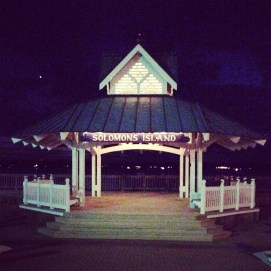 The pier at night.