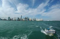 Leaving South Beach, headed for Dinner Key. Playing with the fisheye again.