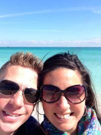 Us at the beach.