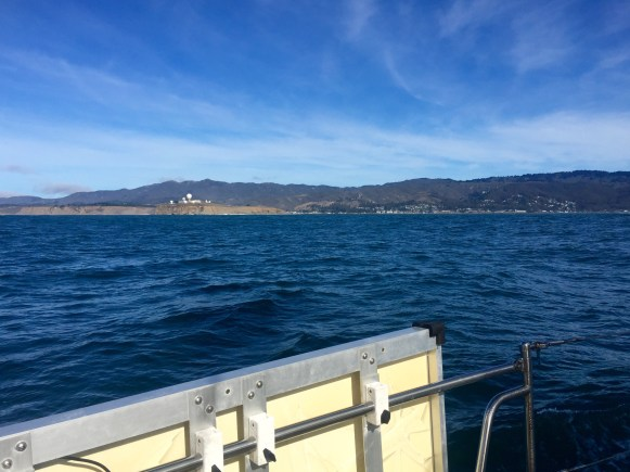 The view coming into Half Moon Bay