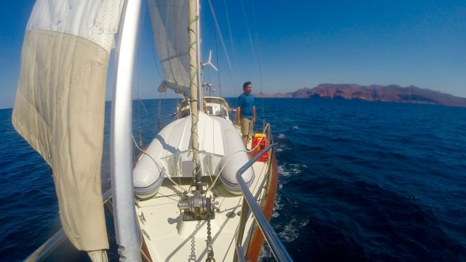 Sailing the east side of Espiritu Santo.
