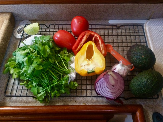 Lovely vegetables provided by Steve from MV Pacific