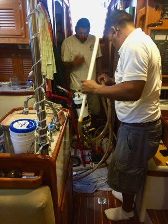 Horacio Velarde Martinez polishing our fuel tanks.