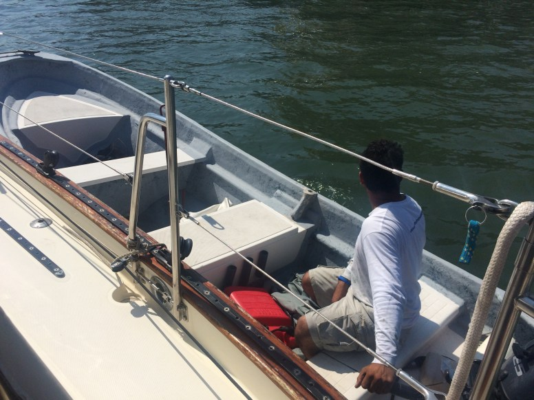 Tow boat on our starboard side