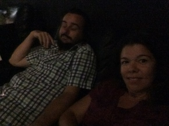 Reclining at the movie theatre