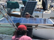 Mounting our port solar panel