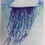 sailing luna sea original watercolor painting manpower