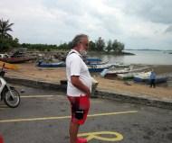 Duncan eyes off the local fleet at Port Dickson