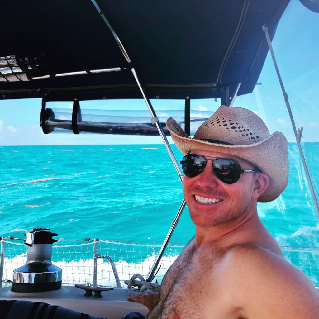 Nick sailing to Ponce