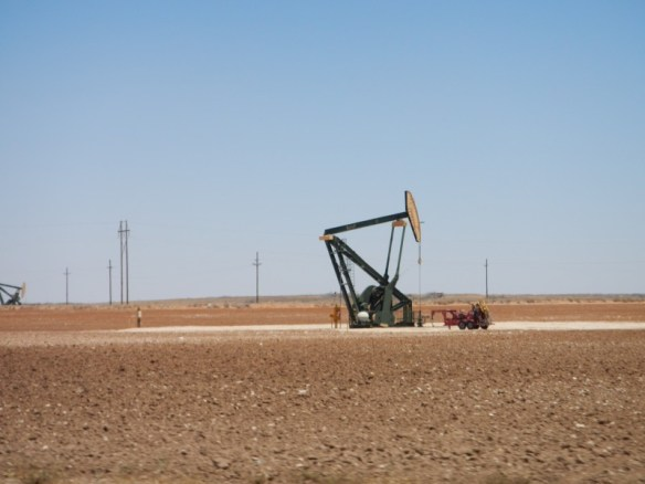 So many oil derricks in Texas and New Mexico!