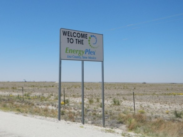 "Closest thing to a ""Welcome to New Mexico"" sign there was"