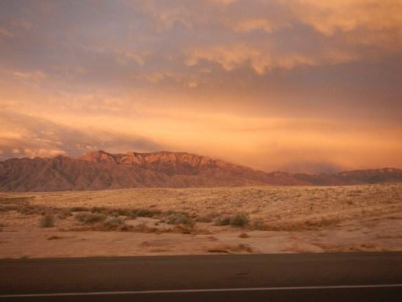 Sunset near Albuquerque