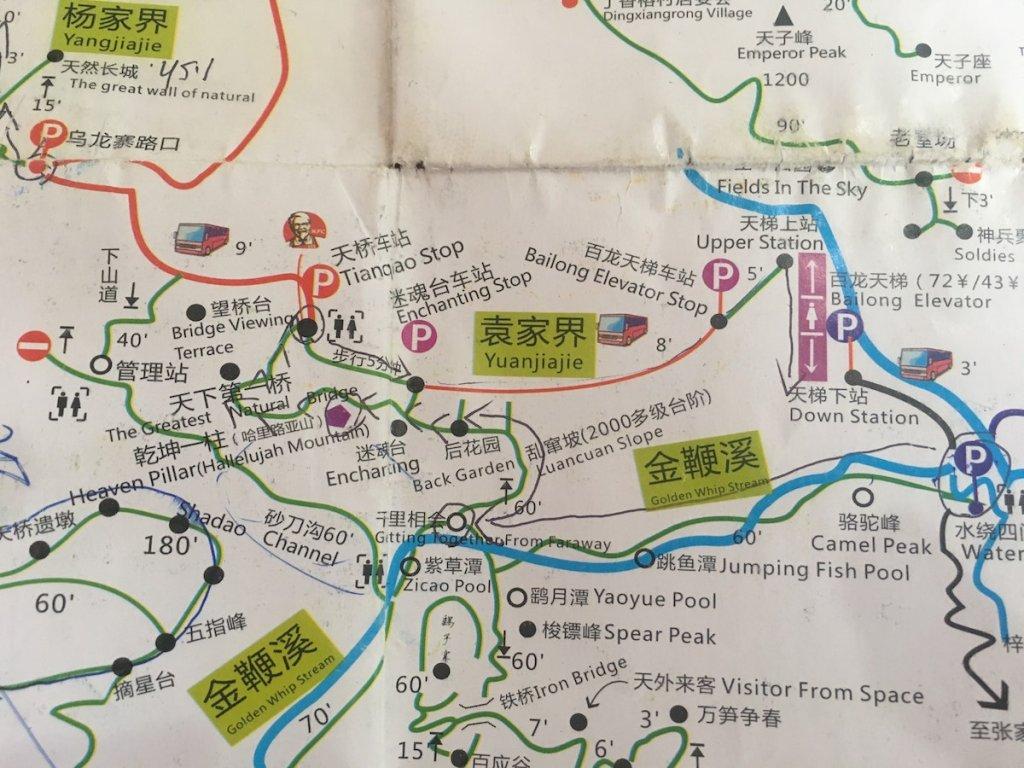 Yuanjiajie Map