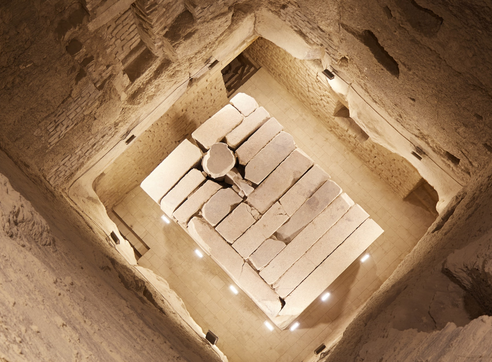 Inside the Step Pyramid of Djoser South Entrance