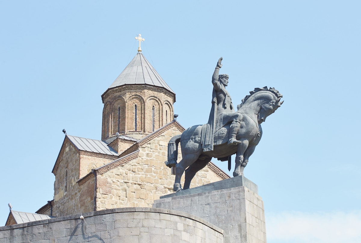 Vakhtang Statue Old Tbilisi Guide