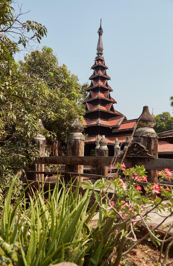 Teak Monastery Inwa