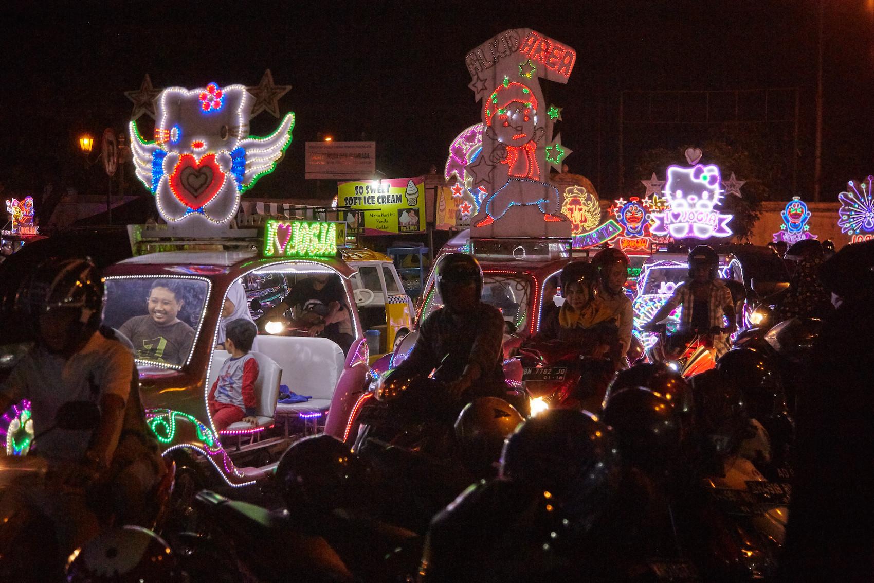 Yogyakarta Neon Cars