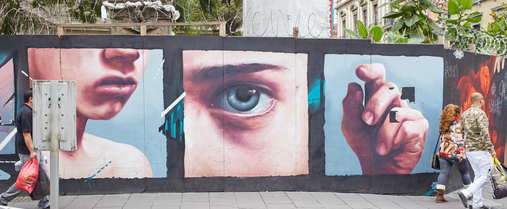 Calle Regina Eje Central Lazaro Cardenas Mural
