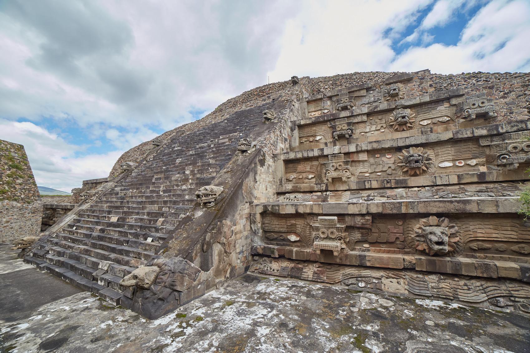 Quetzalcoatl Pyramid Teotihuacan