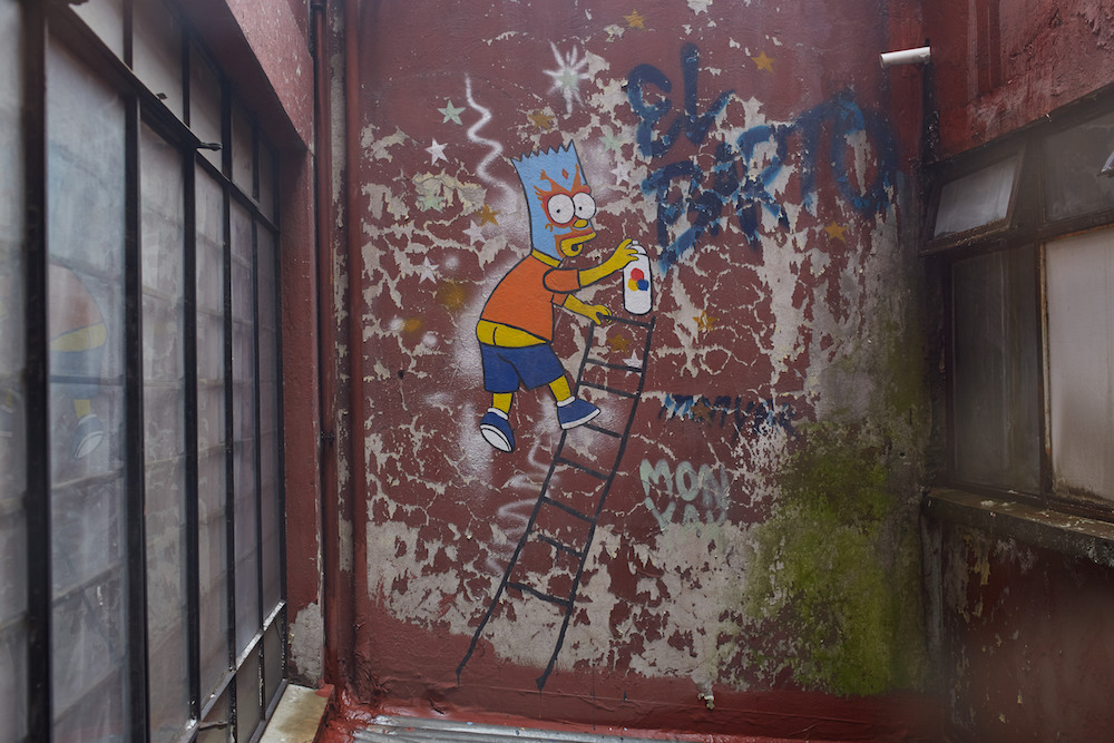 Bart Simpson Mexico Street Art