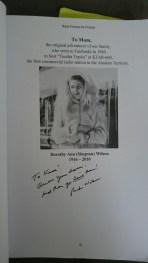 Dedication and inscription (photo mine)