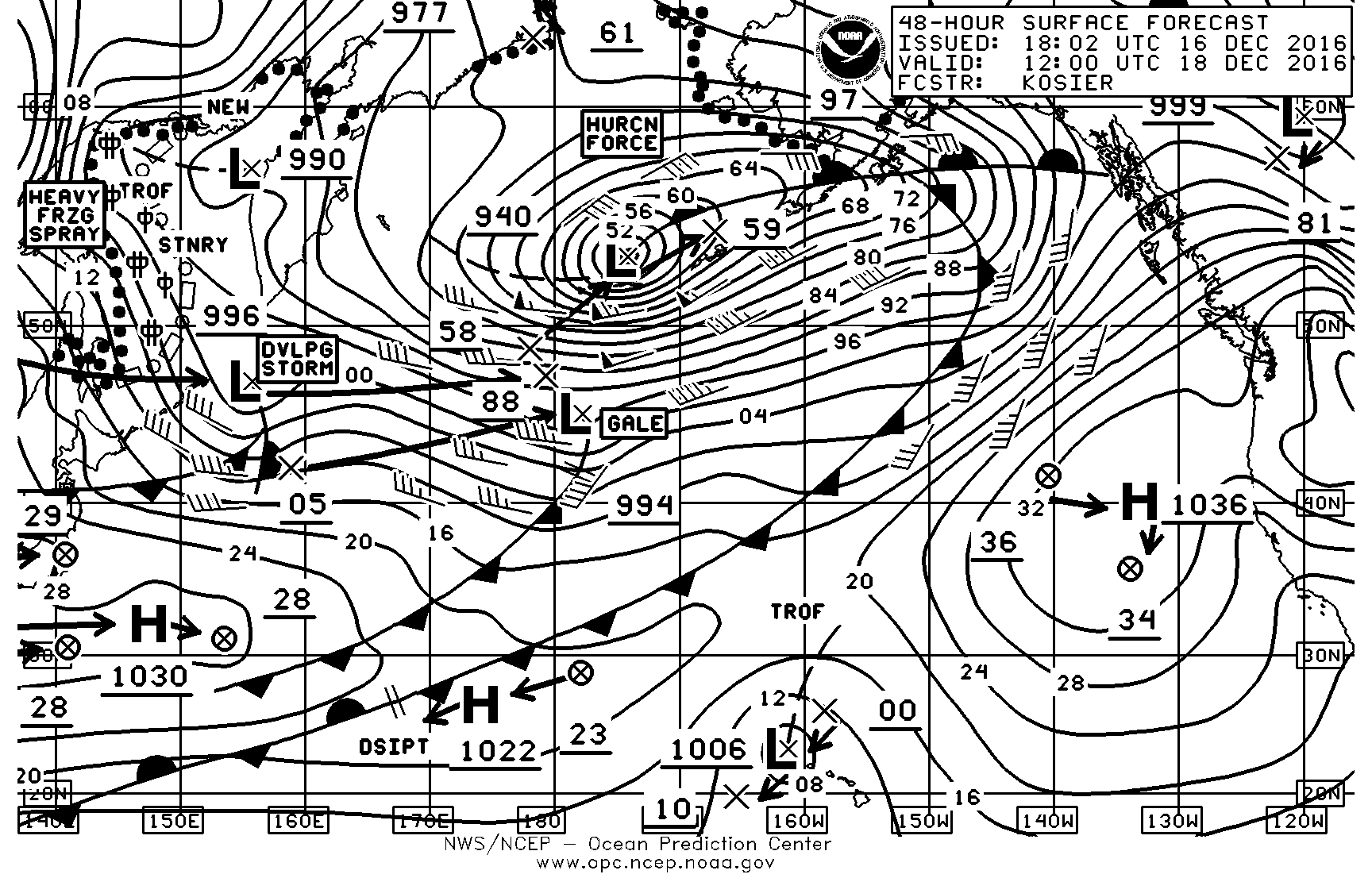 Weather page 6 sailish 18 december surface chart nvjuhfo Choice Image