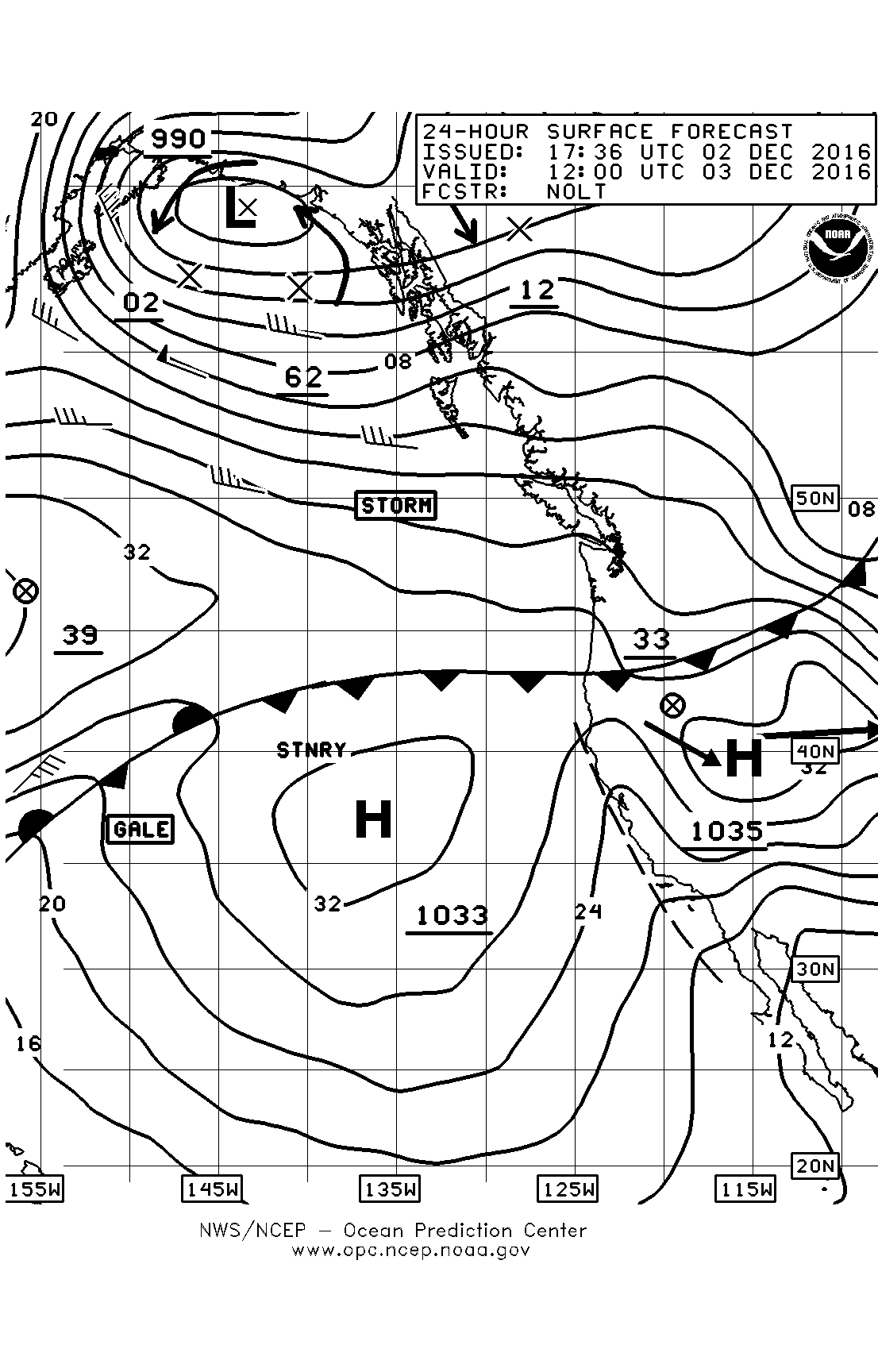 Weather page 7 sailish december 3 surface chart nvjuhfo Choice Image